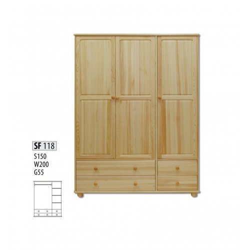 Шкаф трехстворчатый Витязь 118