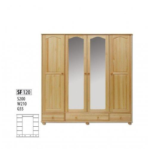 Шкаф четырехстворчатый Витязь 120